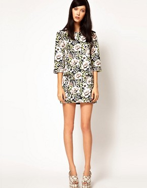 Image 4 ofEmma Cook Sweatshirt Dress in Vintage Floral Print