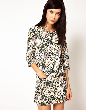 Image 1 ofEmma Cook Sweatshirt Dress in Vintage Floral Print