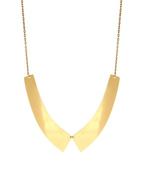 Image 1 ofASOS Metal Collar Necklace