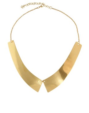 Image 2 ofASOS Metal Collar Necklace