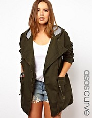 ASOS CURVE - Parka stile motociclista