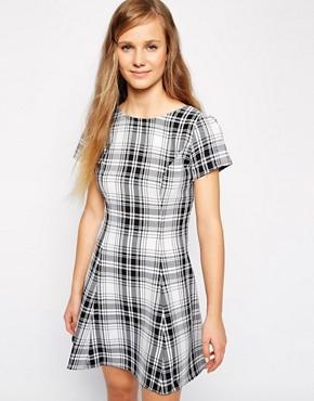 Love Scoop Back Tea Dress in Check Print