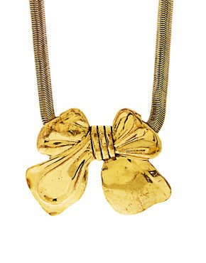 Image 1 ofLove Rocks Bow Necklace