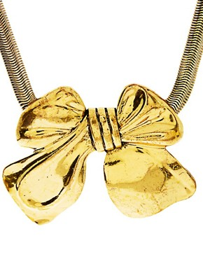 Image 4 ofLove Rocks Bow Necklace