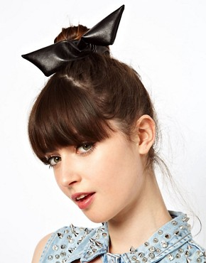 Image 1 ofASOS Leather Look Hair Tie