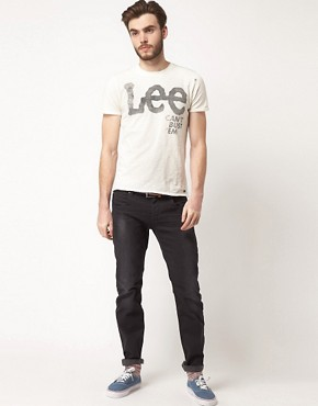 Image 4 ofLee Logo T Shirt Marl Wash