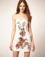 French Connection Bold Floral Bustier Dress