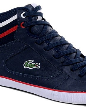 Image 2 of Lacoste Camous Leather Trainers