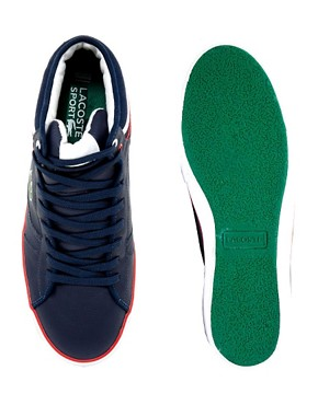Image 3 of Lacoste Camous Leather Trainers
