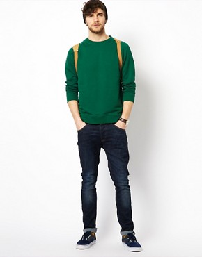 Image 4 ofASOS Raglan Crew Neck Sweatshirt