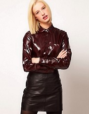 ASOS Shirt With Wet Look