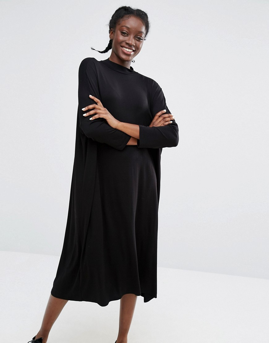 Monki Oversized Smock Dress - Black