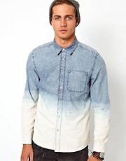 River Island Shirt with Rips &amp; Dip Dye