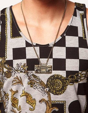 Image 3 of ASOS Ghetto Blaster Necklace