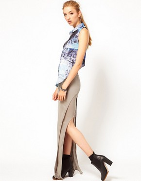 Image 1 ofImprovd Sunny Maxi Skirt with Side Slit