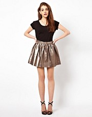 American Retro Metallic Skater Skirt