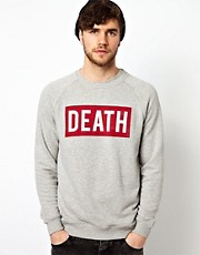 ASOS Death Printed Crew Neck Sweat