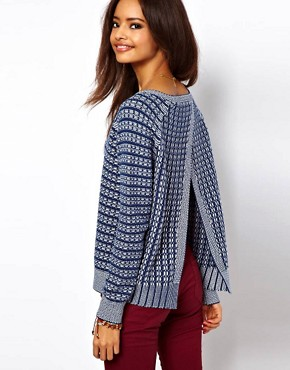 ASOS Sweater With Stitch Detail And Open Back