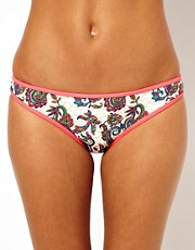 Warehouse Pink Paisley Bikini Bottom
