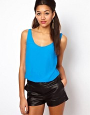 Motel Polly Woven Vest Top