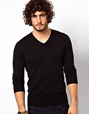 G Star Jumper Amos Cotton Knit V-Neck