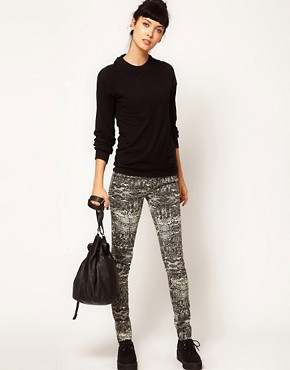 Image 1 ofDr Denim Kissy Snake Print Jeggings