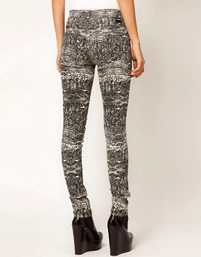 Image 2 ofDr Denim Kissy Snake Print Jeggings