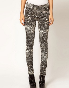 Image 4 ofDr Denim Kissy Snake Print Jeggings