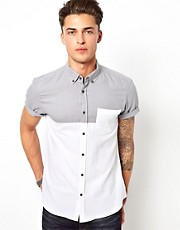 Camisa de manga corta en colour block de River Island