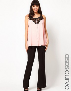 Image 1 ofASOS CURVE Bi-Stretch Bootflare Trousers