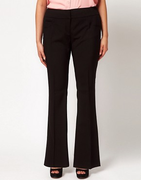Image 4 ofASOS CURVE Bi-Stretch Bootflare Trousers