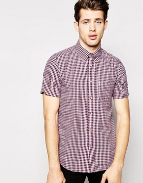 Ben Sherman Short Sleeve Mini Check Shirt