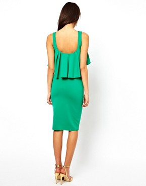 Image 2 ofASOS Midi Pencil Dress With Ruffles