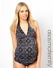 ASOS Maternity Tankini Top In Bandana Print