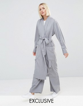 House Of Sunny Luxe Casual Trench Coat Co-Ord