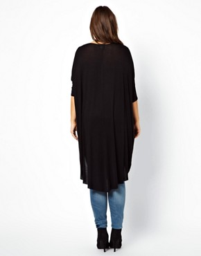 Image 2 ofASOS CURVE Jersey Top With Dip Back
