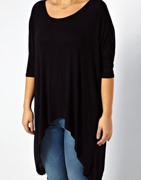Image 3 ofASOS CURVE Jersey Top With Dip Back