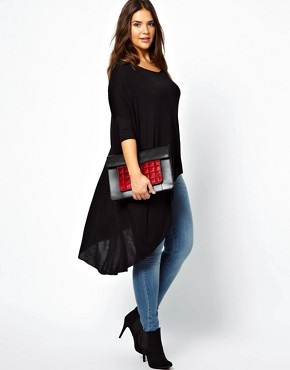 Image 4 ofASOS CURVE Jersey Top With Dip Back