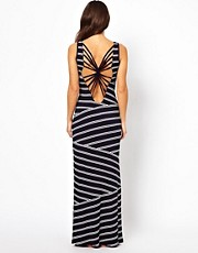 ASOS Stripe Twist Back Maxi Beach Dress