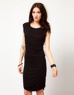 Image 1 ofGestuz Draped Jersey Dress