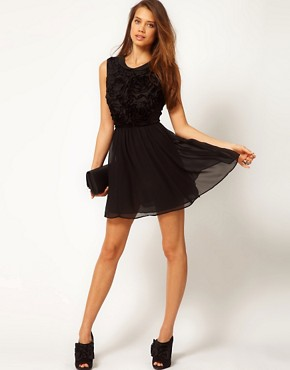 Image 4 ofASOS Mini Dress with Rose Applique