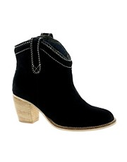 Park Lane Black Suede Boots