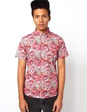 Bellfield Batik Shirt With Batik Print