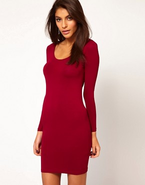 Image 2 ofASOS PETITE Exclusive Mini Dress With Twist Back