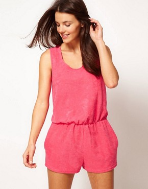 Image 1 ofASOS Towelling Beach Playsuit