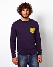 ASOS Sweatshirt With Baseball Badge