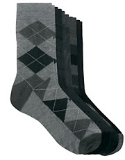 River Island  Socken mit Wappenmotiv im 5er-Pack