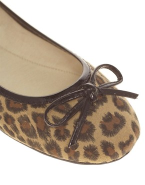 Image 2 ofMiss KG Lola Leopard Print Ballet Pumps