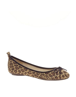 Image 1 ofMiss KG Lola Leopard Print Ballet Pumps