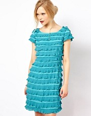 Jovonna Ruffle Shift Dress